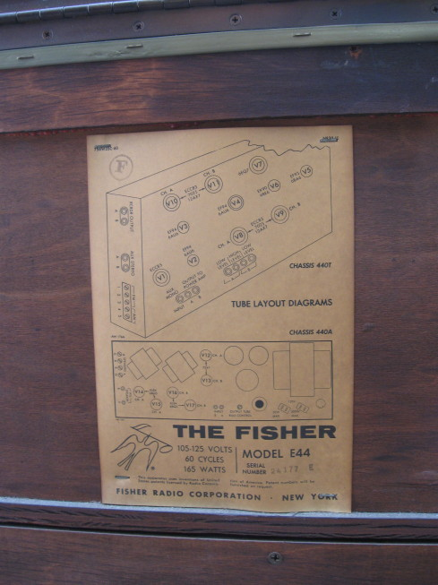 fisher custom electra iv label