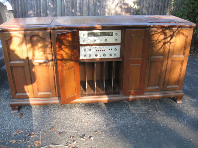 fisher regent II 6000 console front components open