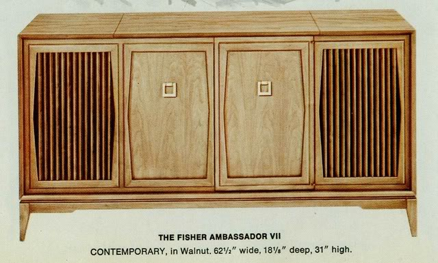 Fisher Ambassador VII Contemporary Console