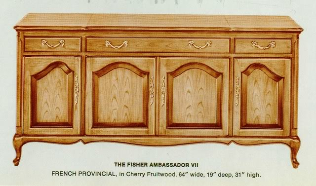 Fisher Ambassador VII French Provincial Console
