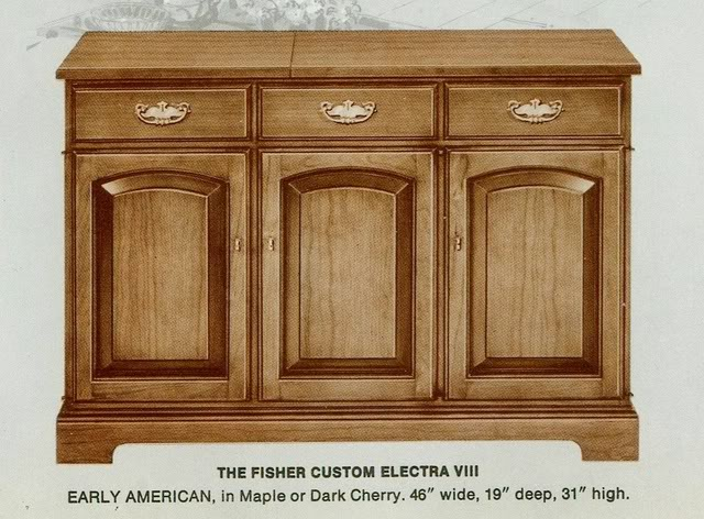 Fisher Custom Electra VIII Early American Console