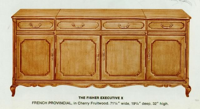 Fisher Executive X French Provincial Console