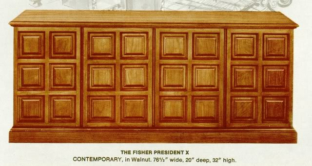 Fisher President X Contemporary Console