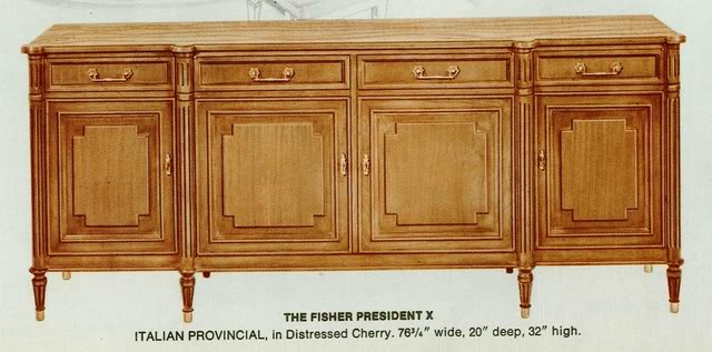Fisher President X Italian Provincial Cabinet
