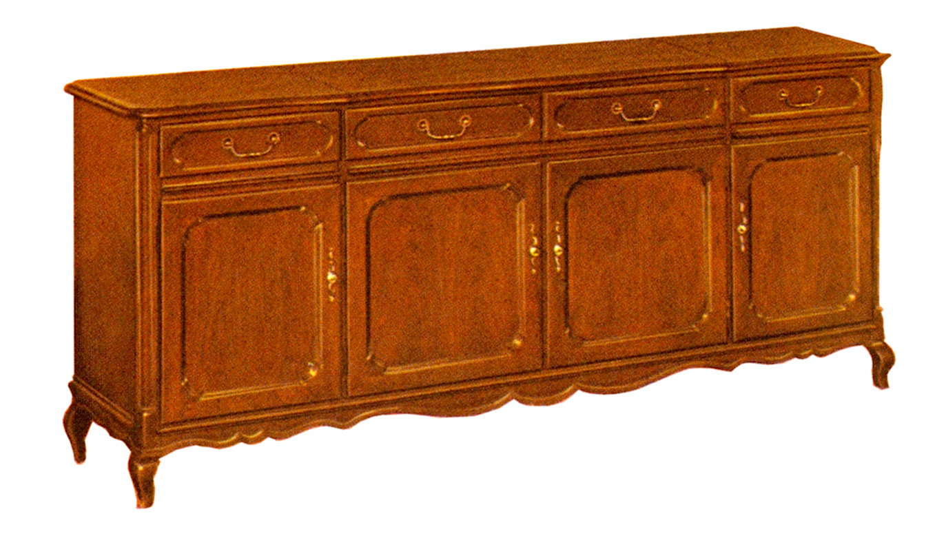 1966 Fisher 971-FP Executive French Provincial Console