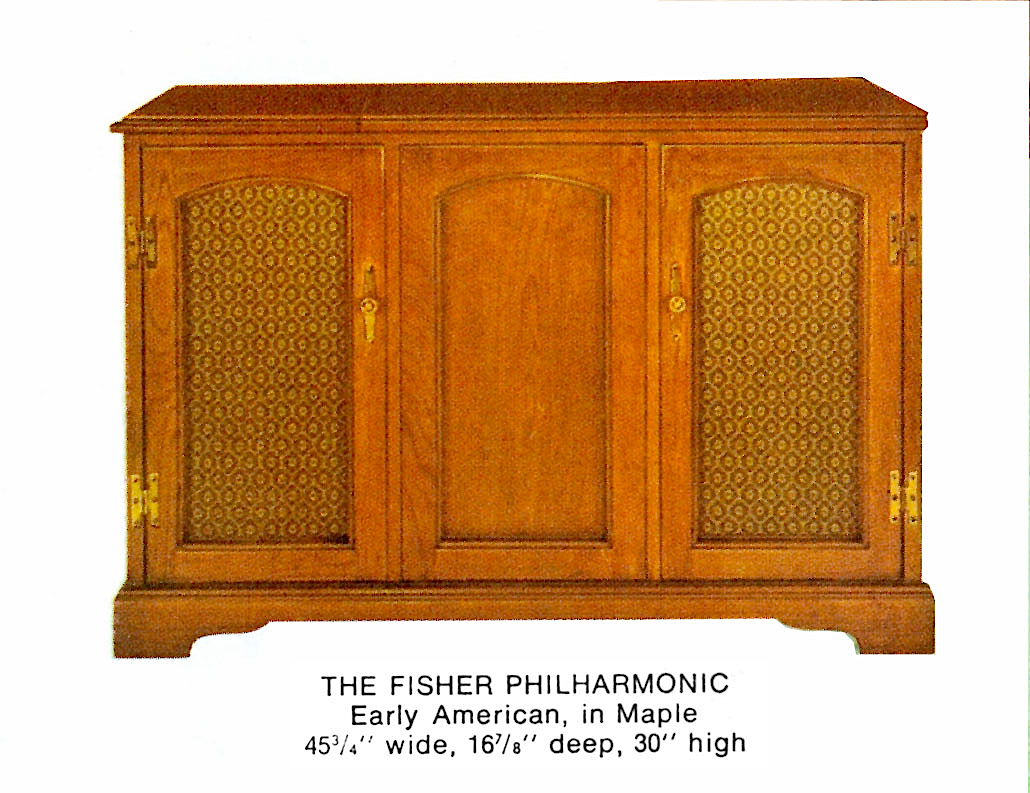 1966 Fisher P-291-EA Philharmonic Early American Console
