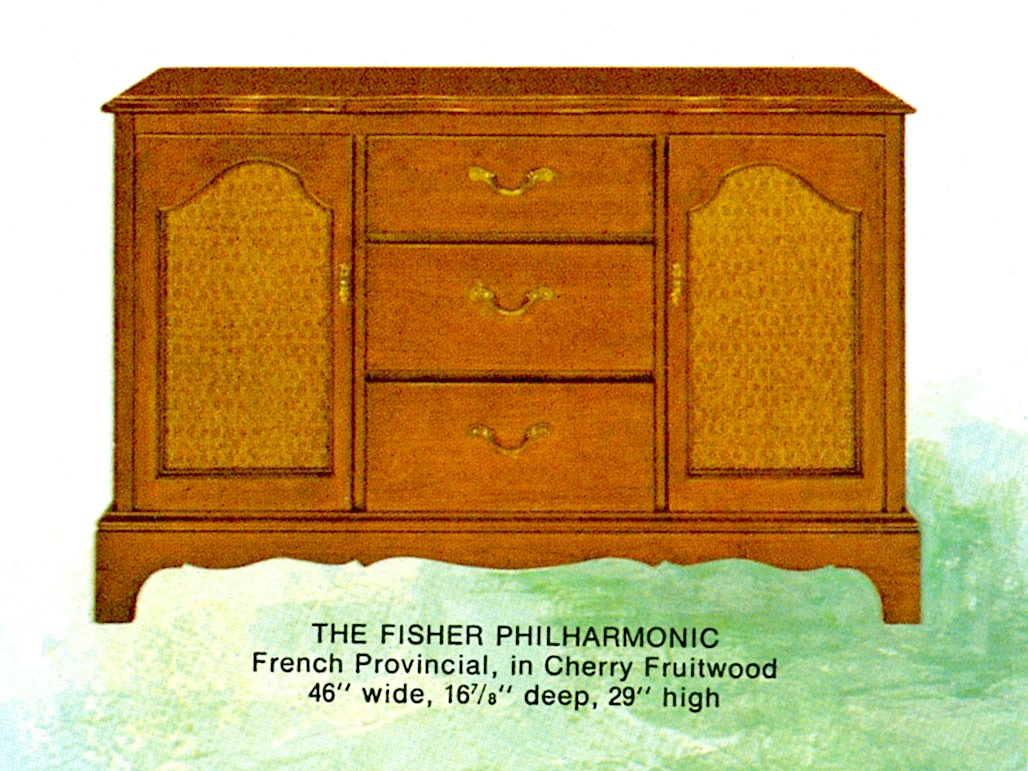 1966 Fisher P-291-FP Philharmonic French Provincial Console