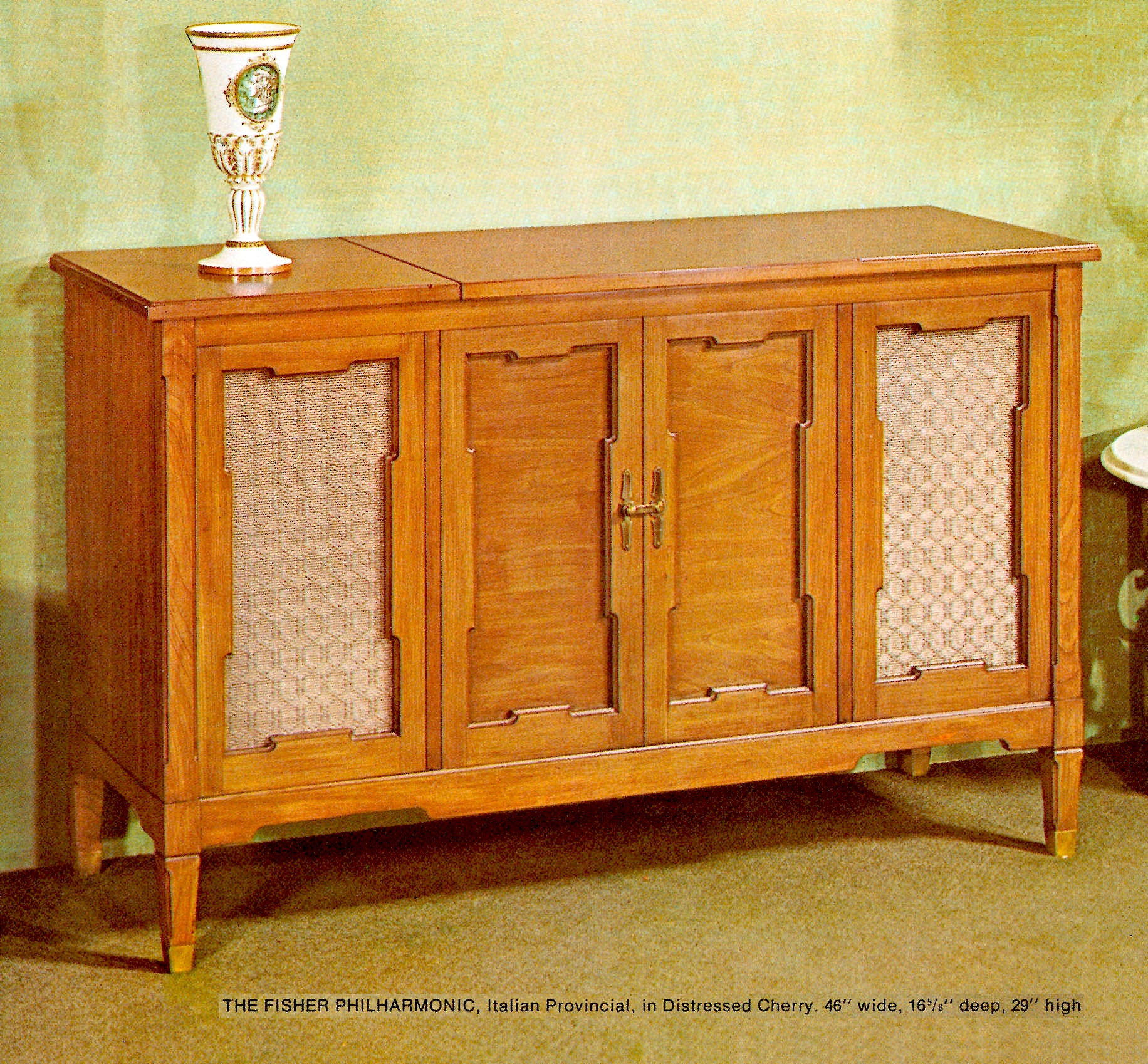 1966 Fisher P-291-IP Philharmonic Italian Provincial Console