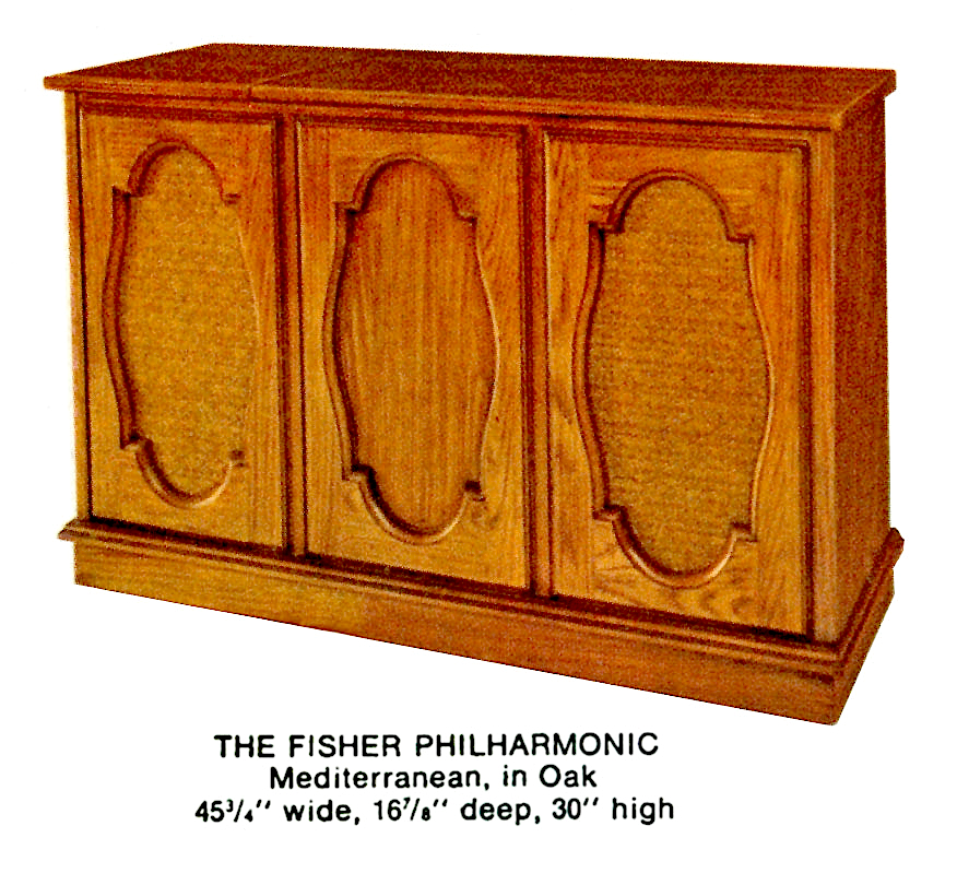 1966 Fisher P-291-MD Philharmonic Mediterranean Console
