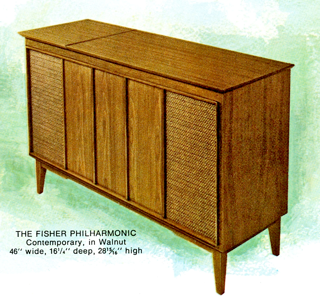 1966 Fisher P-291-W Philharmonic Contemporary Console