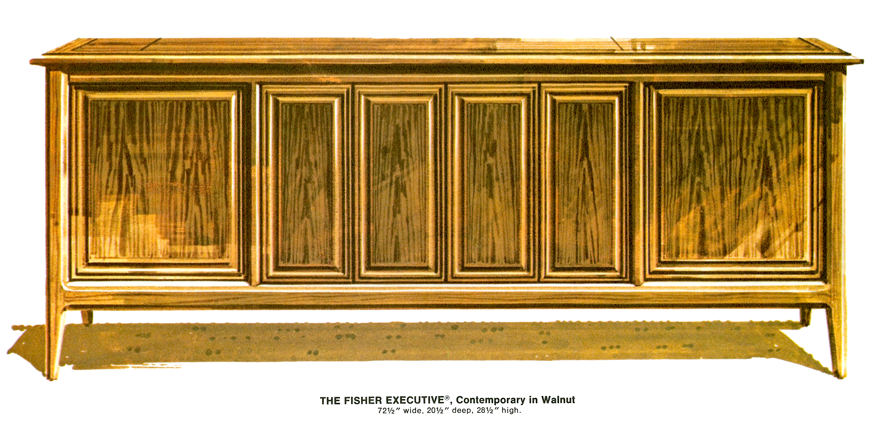 1967 Fisher 972-W Executive Contemporary Console