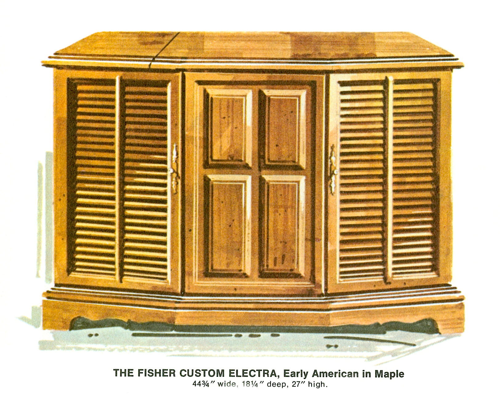 1967 Fisher E-492-EA Custom Electra Early American Console