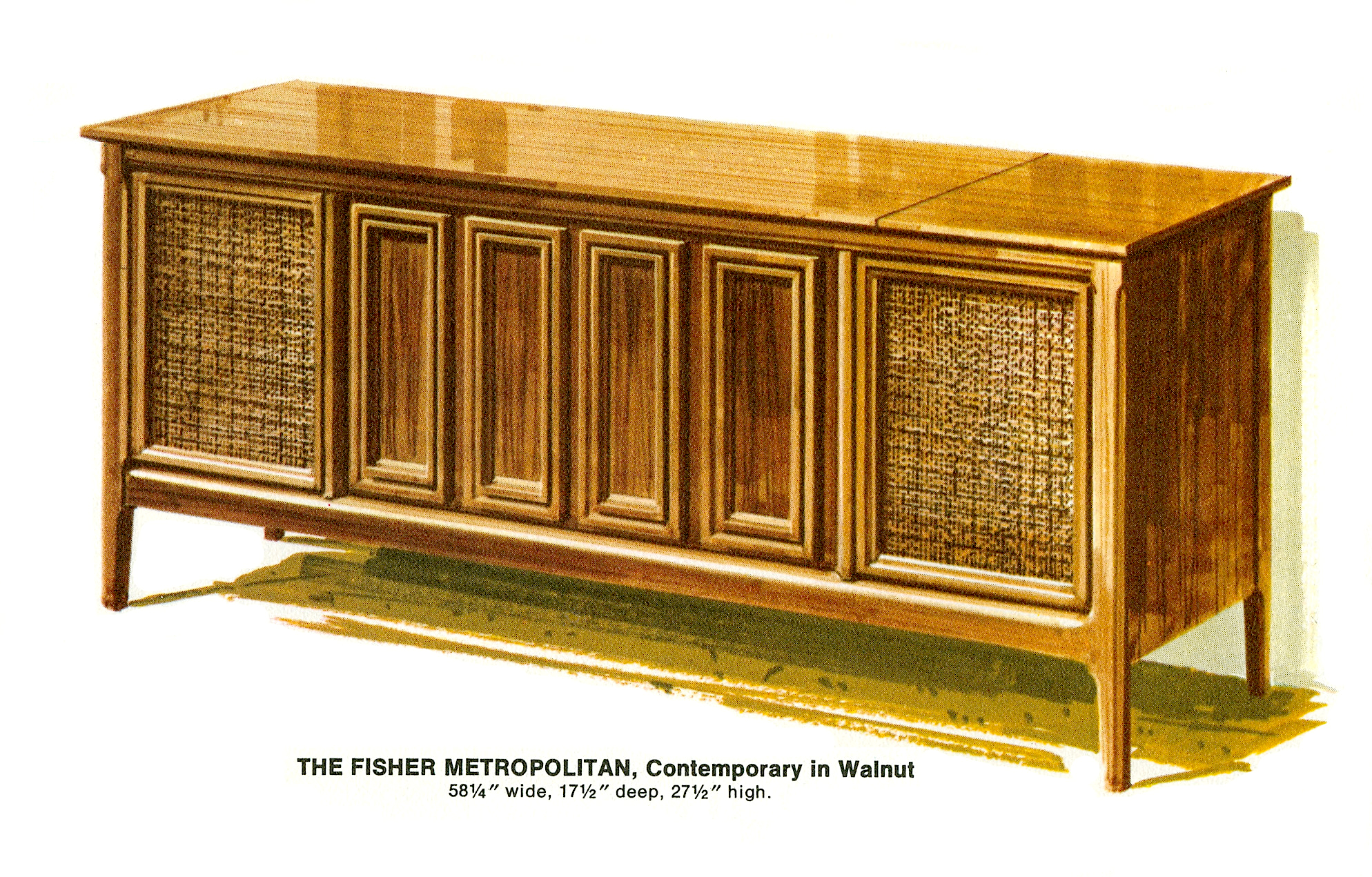1967 Fisher M-4592-W Metropolitan Contemporary Console