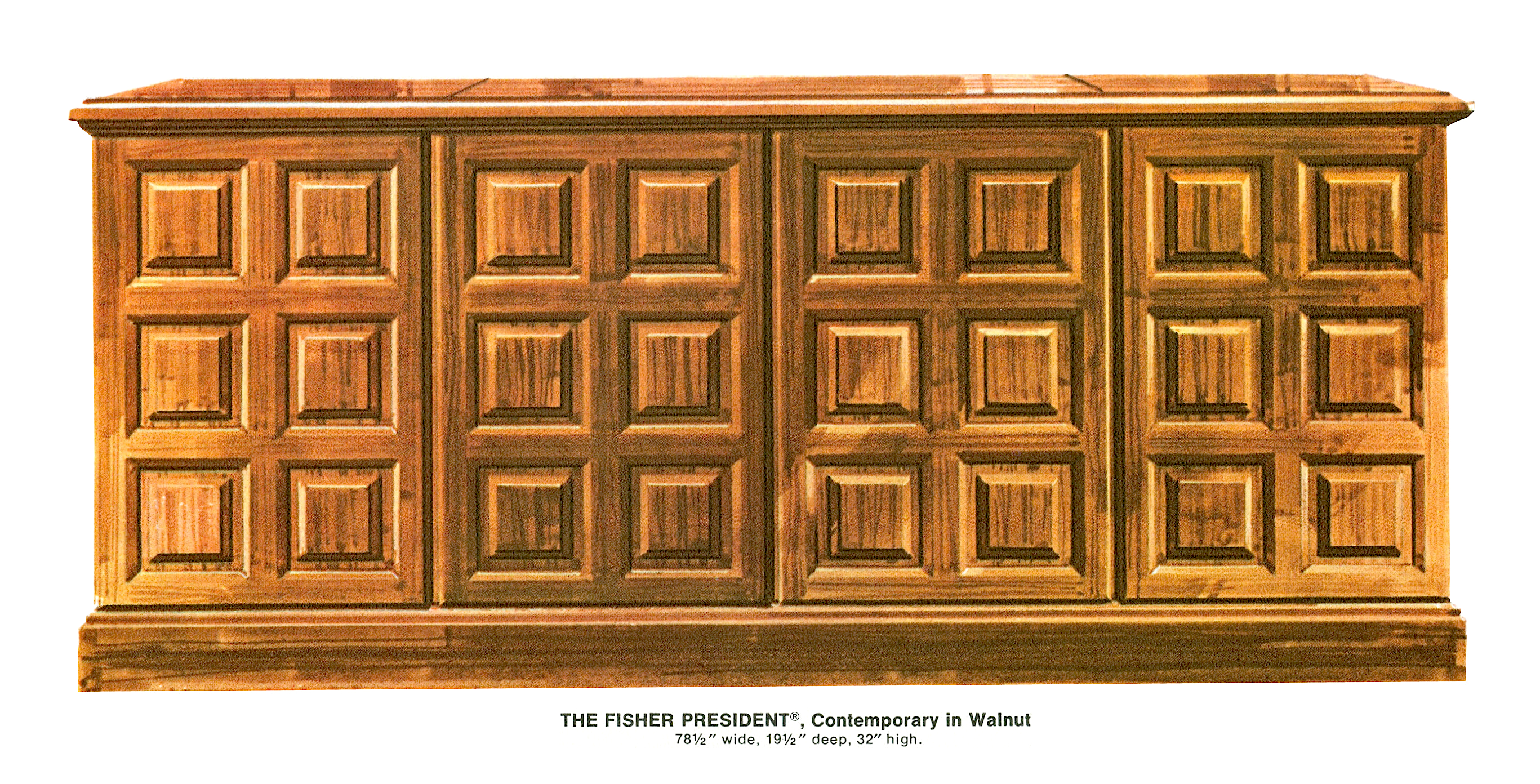 1967 Fisher 9012-W Contemporary Console