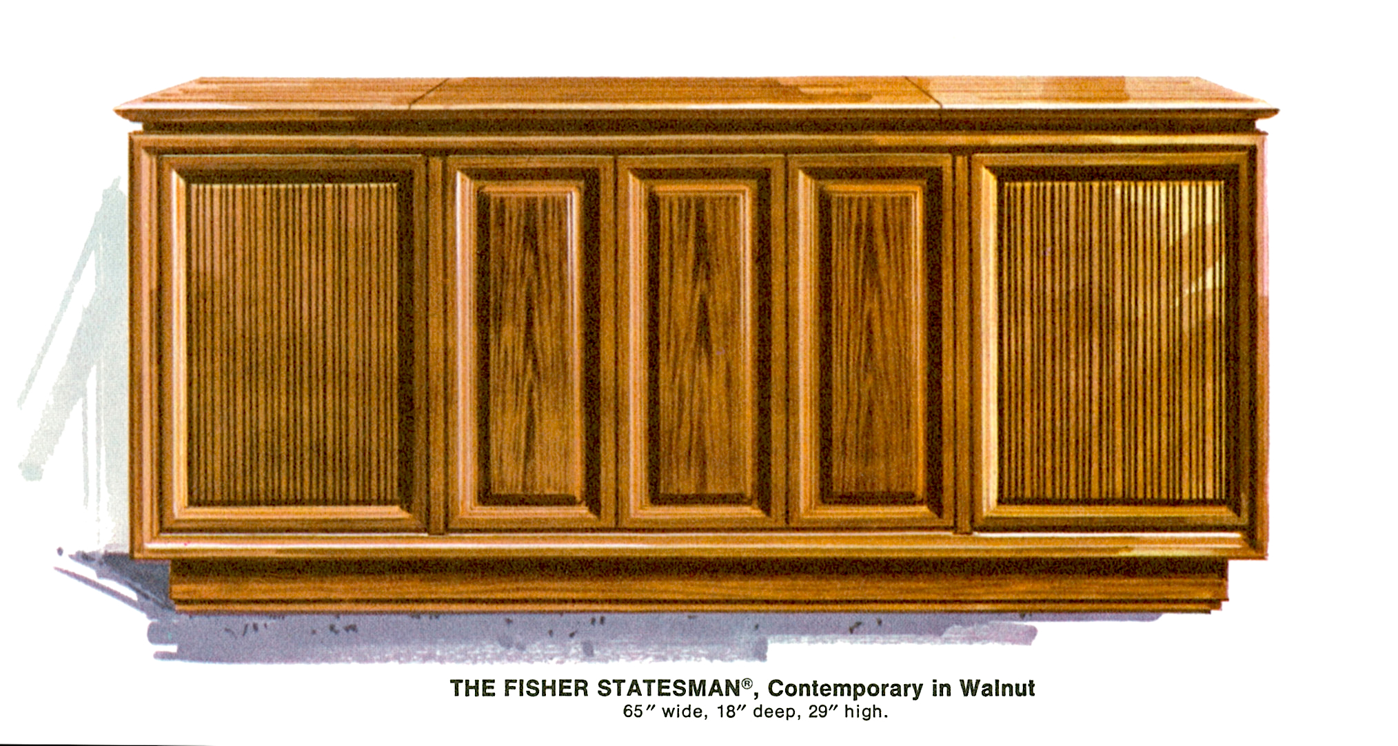 1967 Fisher S-692W Statesman Contemporary Console